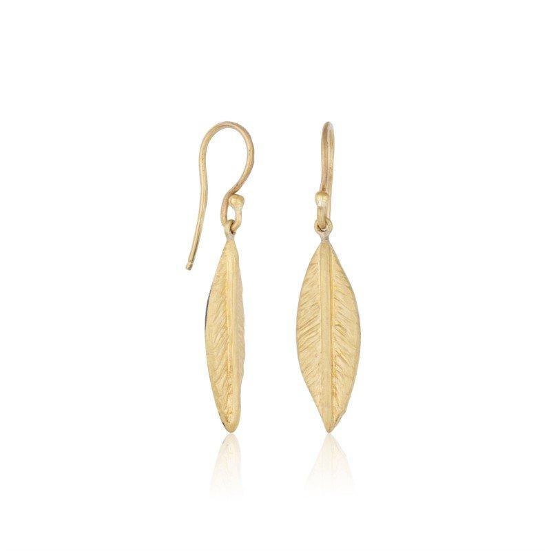 Lika Behar Olive Leaf Earrings