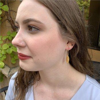Olive Leaf Earrings