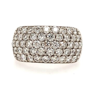 5-Row Pave Diamond Ring