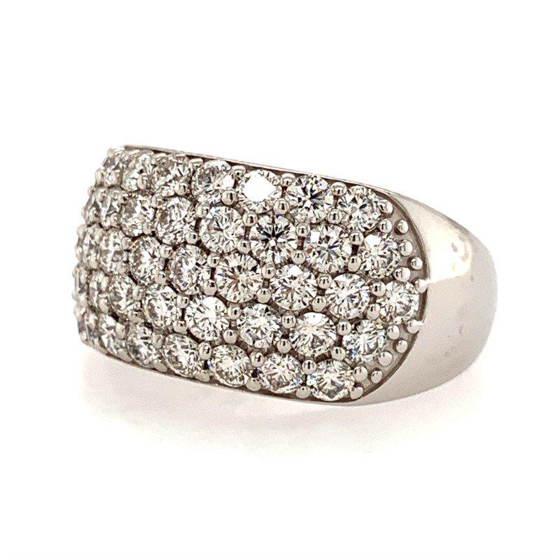 Signature Estate 5-Row Pave Diamond Ring