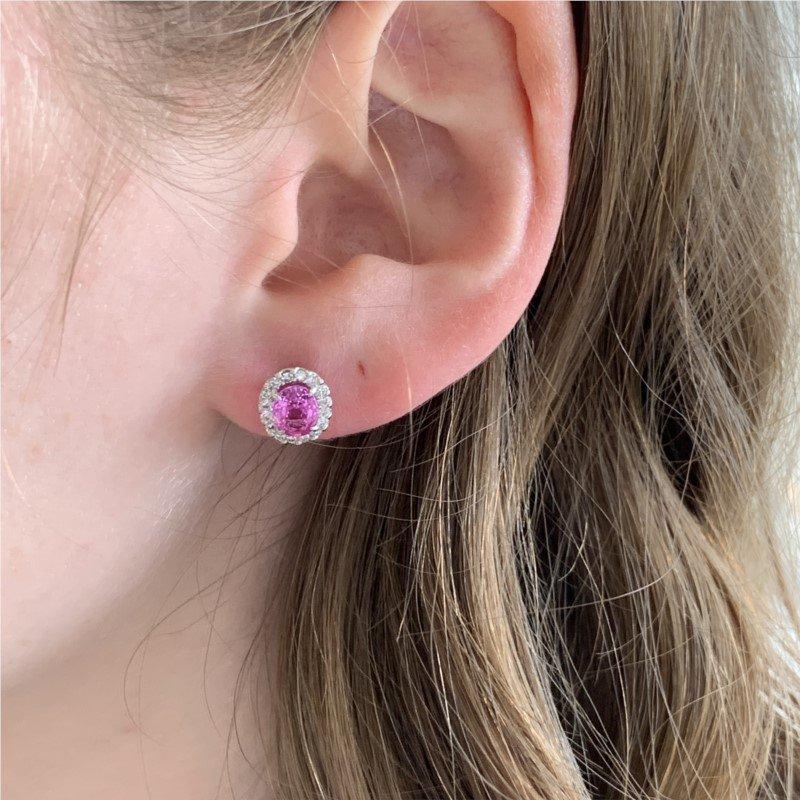 Signature Estate Pink Sapphire Earrings