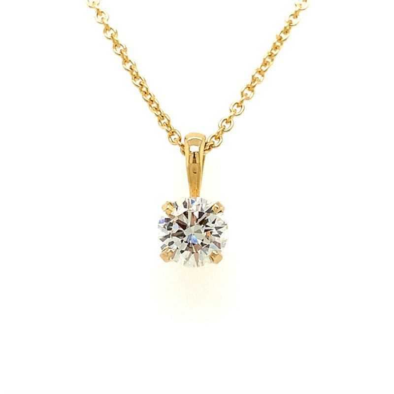 Moses Signature Solitaire Necklace