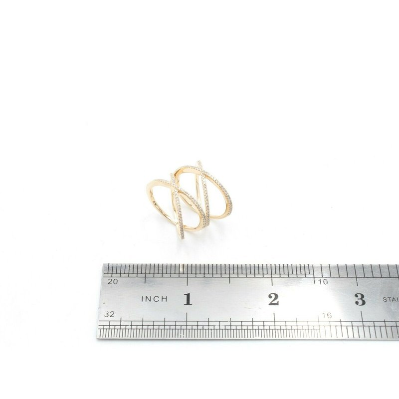 Unbranded 14K YELLOW GOLD ENTWINED WRAP PRONG SET DIAMOND RING 0.85CTW SIZE 6.5 #JB22-8