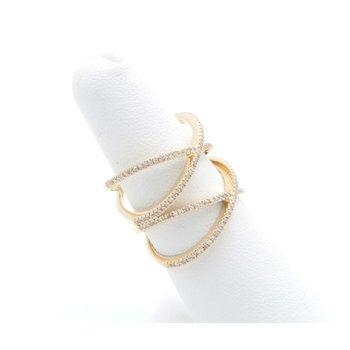 14K YELLOW GOLD ENTWINED WRAP PRONG SET DIAMOND RING 0.85CTW SIZE 6.5 #JB22-8