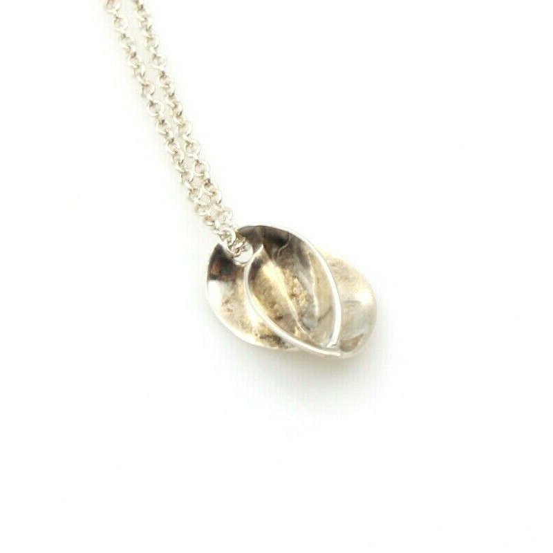 Tiffany Co TIFFANY & CO. FRANK GEHRY STERLING SILVER ABSTRACT PENDANT NECKLACE #756B-6