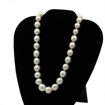 EXQUISITE SOUTH SEA PEARL NECKLACE W/ 0.50 CTW DIAMOND CLASP ENHANCER #E0319-62