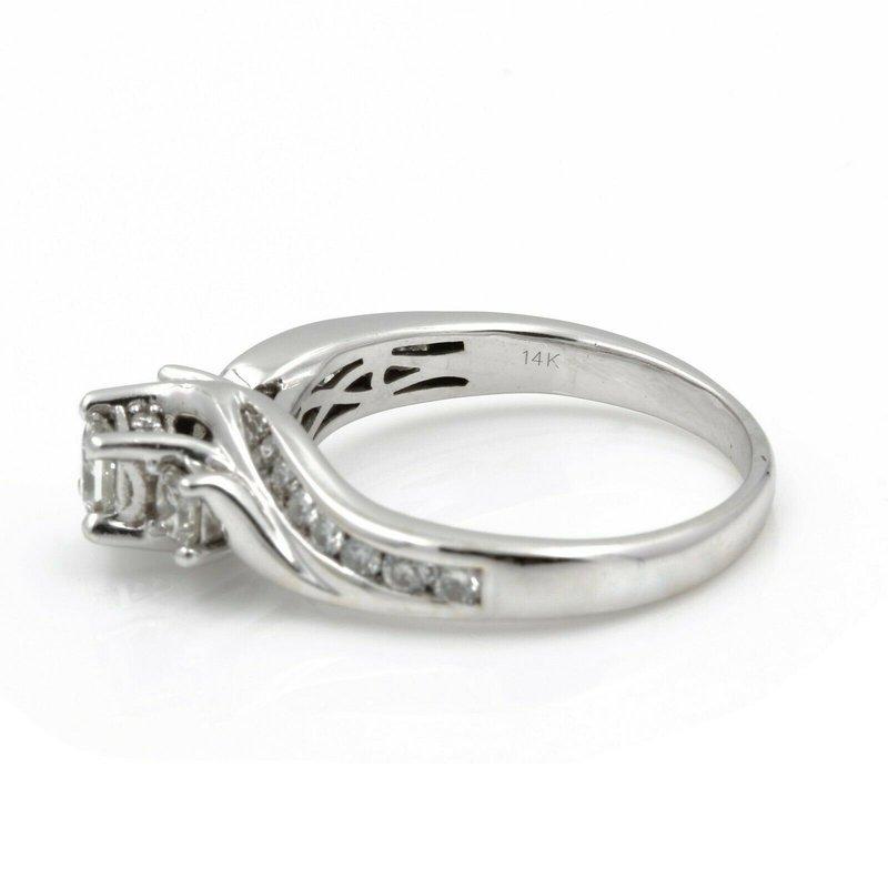 National Rarities 14K WHITE GOLD 1.0 CTW PRINCESS CUT DIAMOND ENGAGEMENT RING SIZE 7.75 #J3094-1