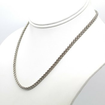 JOHN HARDY STERLING SILVER CLASSIC WOVEN CHAIN NECKLACE 16 INCH 3.6 MM #D9-9