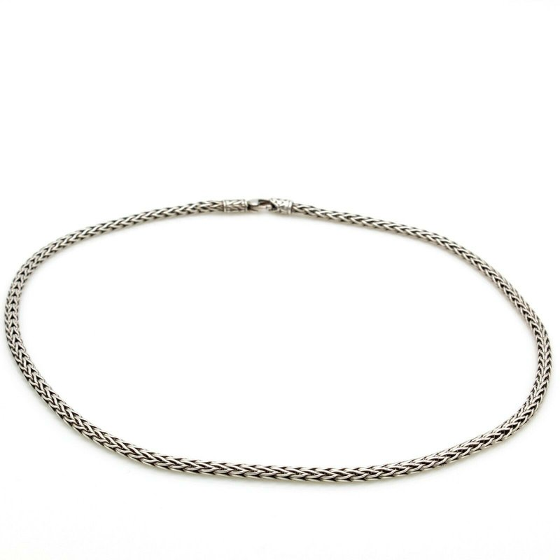 John Hardy JOHN HARDY STERLING SILVER CLASSIC WOVEN CHAIN NECKLACE 16 INCH 3.6 MM #D9-9