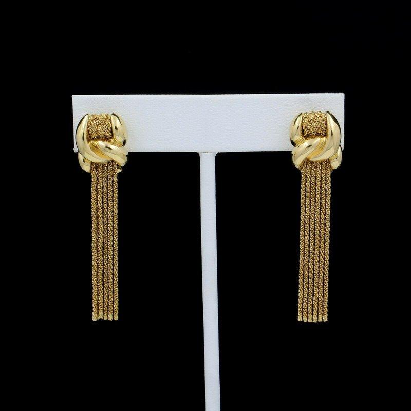 David Yurman DAVID YURMAN 18K YELLOW GOLD YURI ICHIHASHI INTERLACE TASSEL EARRINGS #E1992-2