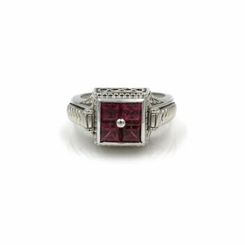 STERLING SILVER INTERCHANGEABLE CENTER RING TANZANITE PINK TOURMALINE 1028B-2