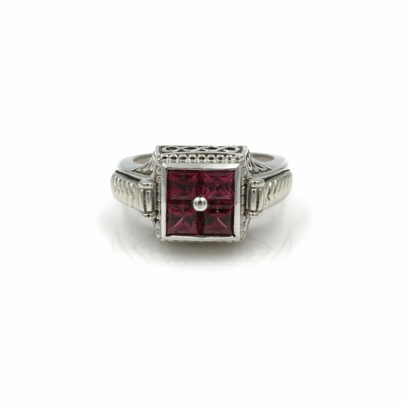National Rarities STERLING SILVER INTERCHANGEABLE CENTER RING TANZANITE PINK TOURMALINE 1028B-2