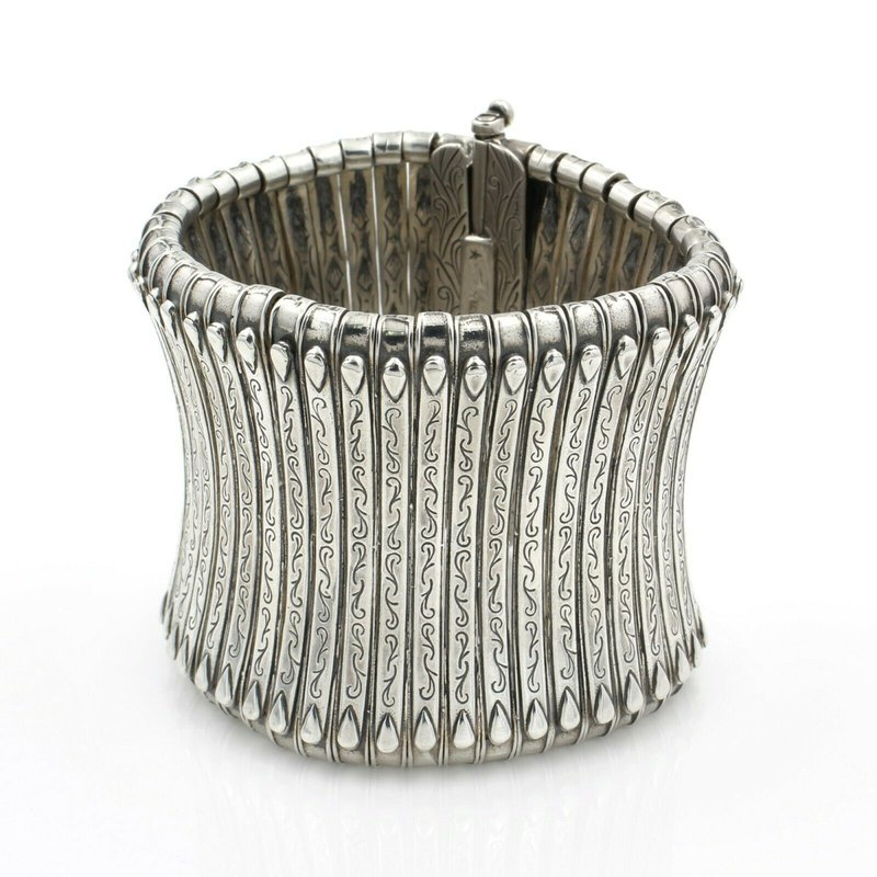 Konstantino KONSTANTINO STERLING SILVER CLASSICS CUFF COLLECTION TOWER CUFF NO RES #D2042-3