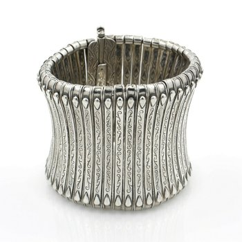 KONSTANTINO STERLING SILVER CLASSICS CUFF COLLECTION TOWER CUFF NO RES #D2042-3