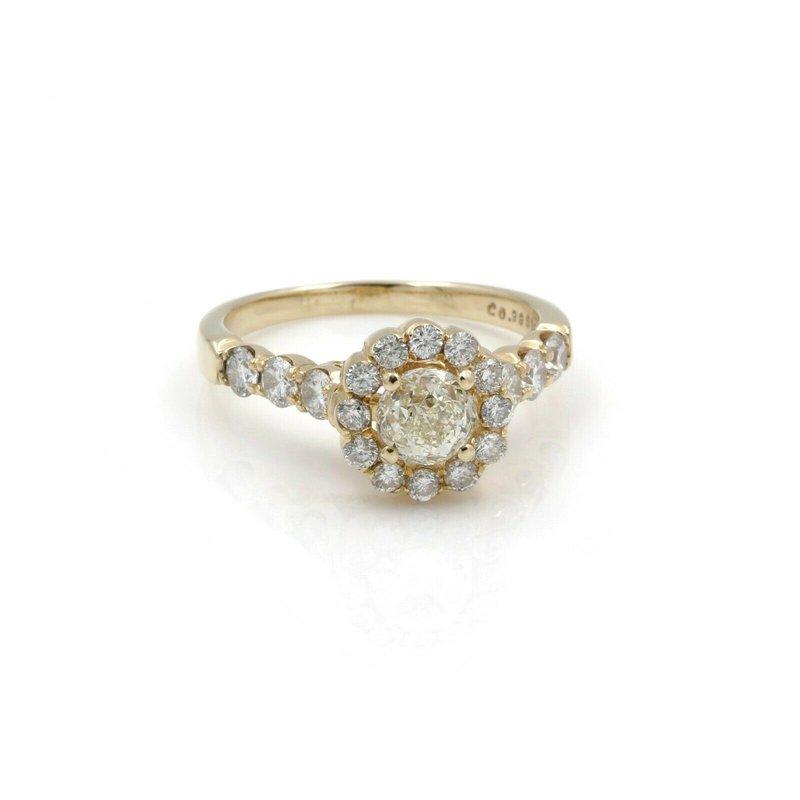 Egl 14K YELLOW GOLD 0.99CT CROWN OF LIGHT DIAMOND RING EGL GRADED SIZE 7.75 #J71