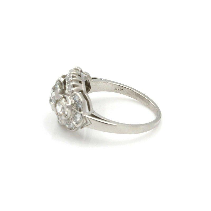 Antique PLATINUM ANTIQUE STUNNING 1.76 CTW OLD EUROPEAN DIAMOND RING SIZE 5.75 #J882-1