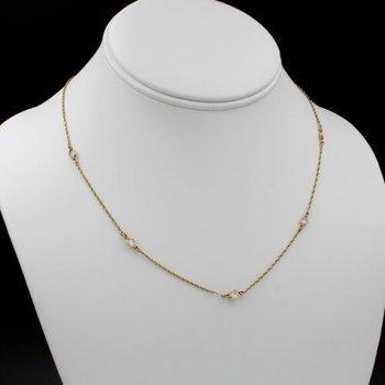 DIAMONDS BY THE YARD 14K GOLD 1 CTW ROUND DIAMOND 5 STATION NECKLACE #1085B-8