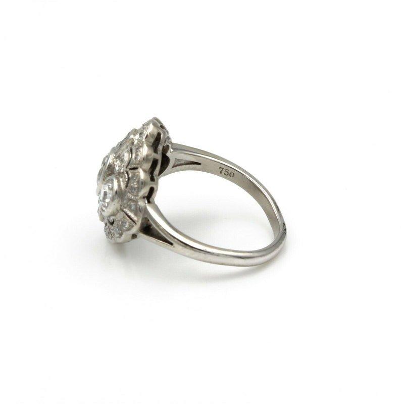 National Rarities EDWARDIAN 18K WHITE GOLD & 1.65 CTW OLD MINE CUT & FRENCH CUT DIAMOND RING #E-79