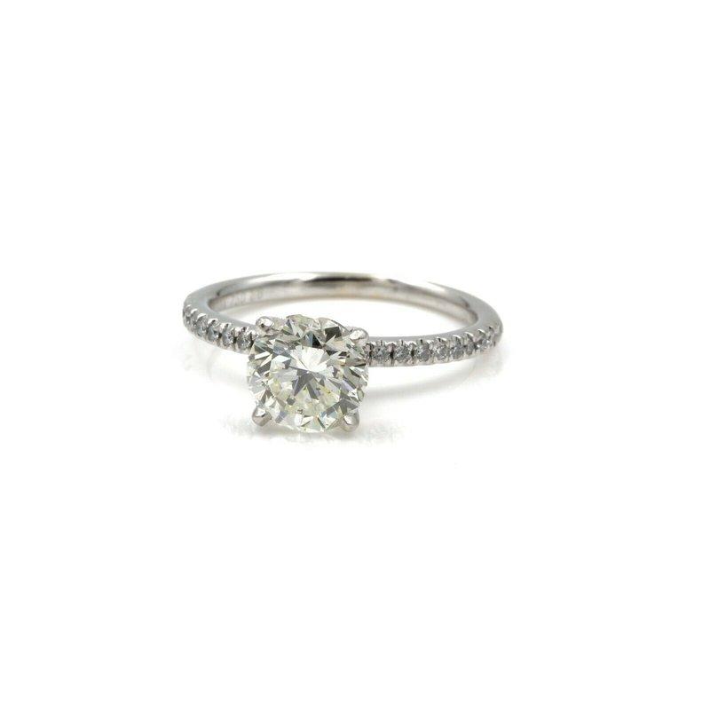 National Rarities 14K WHITE GOLD ROUND BRILLIANT DIAMOND RING GIA CERTIFIED 1.64 CTW SZ 5 1081B-9