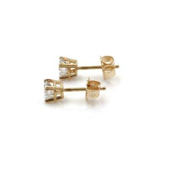 BEAUTIFUL 14K SOLID GOLD 0.70 CTW F-G COLOR I2 DIAMOND STUD EARRINGS #J2-6