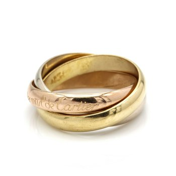 CARTIER 18K TRI-COLORED GOLD TRINITY ROLLING RING SIZE 5.5 DESIGNER D1392-4