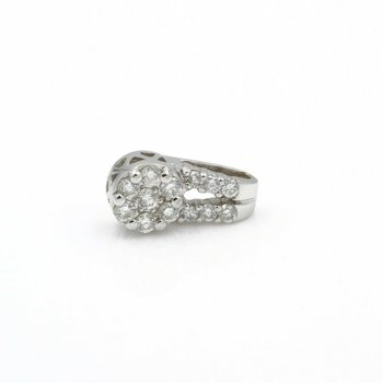 14K WHITE GOLD .40 CTW ROUND BRILLANT DIAMOND PETITE PENDANT CLASSIC #J555-2