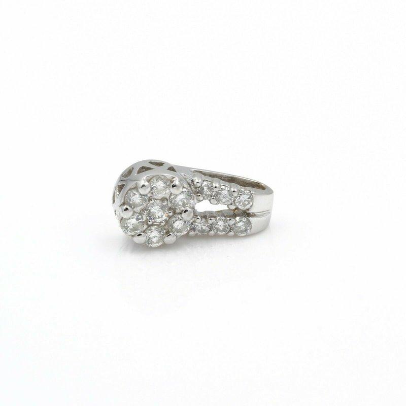 National Rarities 14K WHITE GOLD .40 CTW ROUND BRILLANT DIAMOND PETITE PENDANT CLASSIC #J555-2
