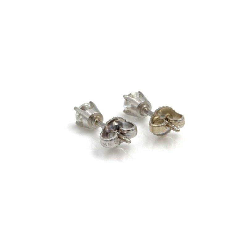 National Rarities STUNNING 14K WHITE GOLD 0.50 CTW ROUND DIAMOND STUD EARRINGS #990B-7