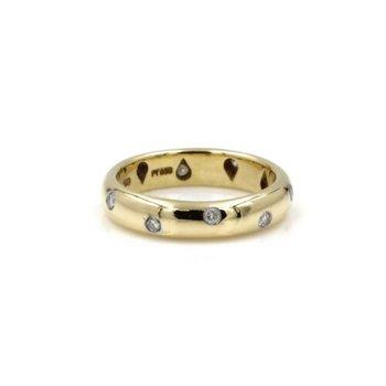 18K TIFFANY & CO ETOILE BAND PLATINUM RBC DIAMOND BAND WEDDING BAND #1031B-10