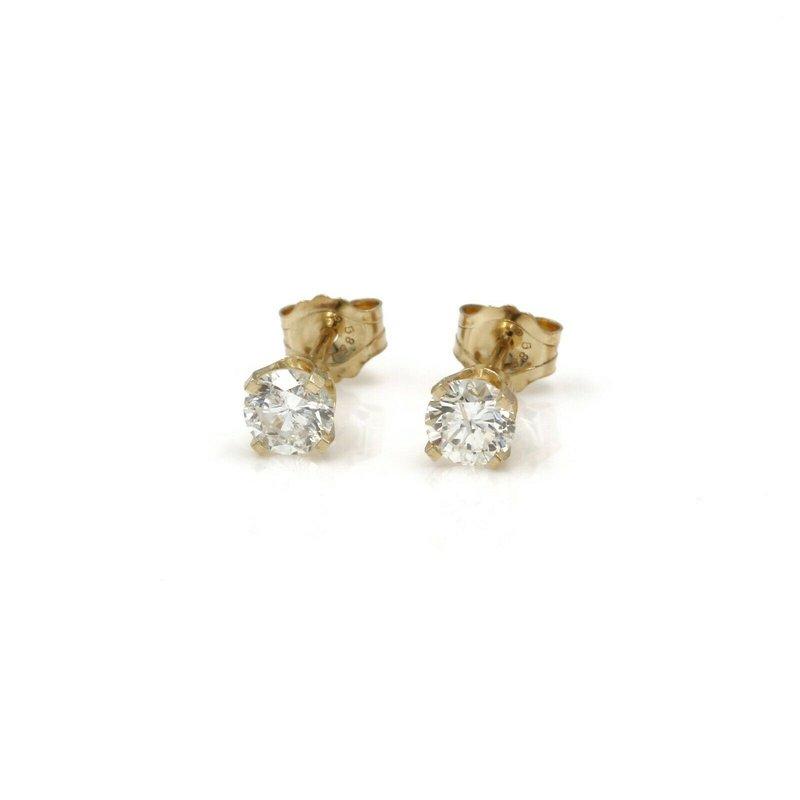 National Rarities 14K YELLOW GOLD ROUND DIAMOND STUD EARRINGS 0.60 CARAT TOTAL WEIGHT 1034B-10