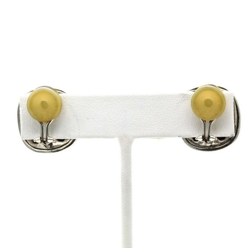 David Yurman DAVID YURMAN LEMON QUARTZ ALBION CLIP EARRINGS STERLING SILVER 14K GOLD #1017B-8