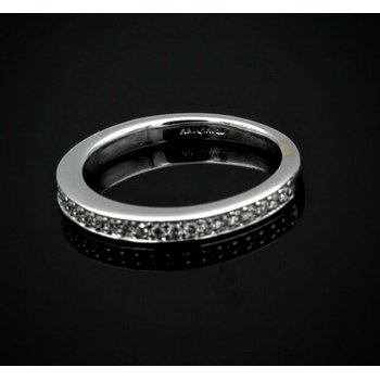 ARTCARVED 14K WHITE GOLD .55 CTW ROUND WHITE DIAMOND HALF ETERNITY BAND  #957B-3