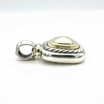 DAVID YURMAN STERLING SILVER & 14K YELLOW GOLD MEDALLION SLIDE PENDANT  #1012B-5