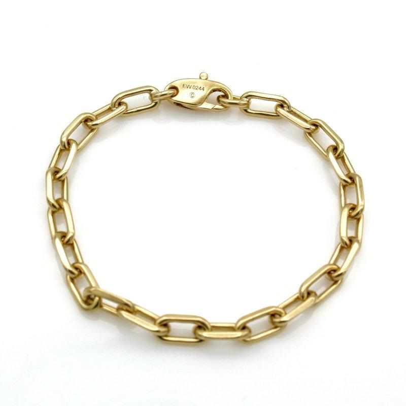 "Cartier CARTIER VINTAGE 18K GOLD SPARTACUS OVAL CHAIN LINK BRACELET EW0244 6.5"" #1090B-6"