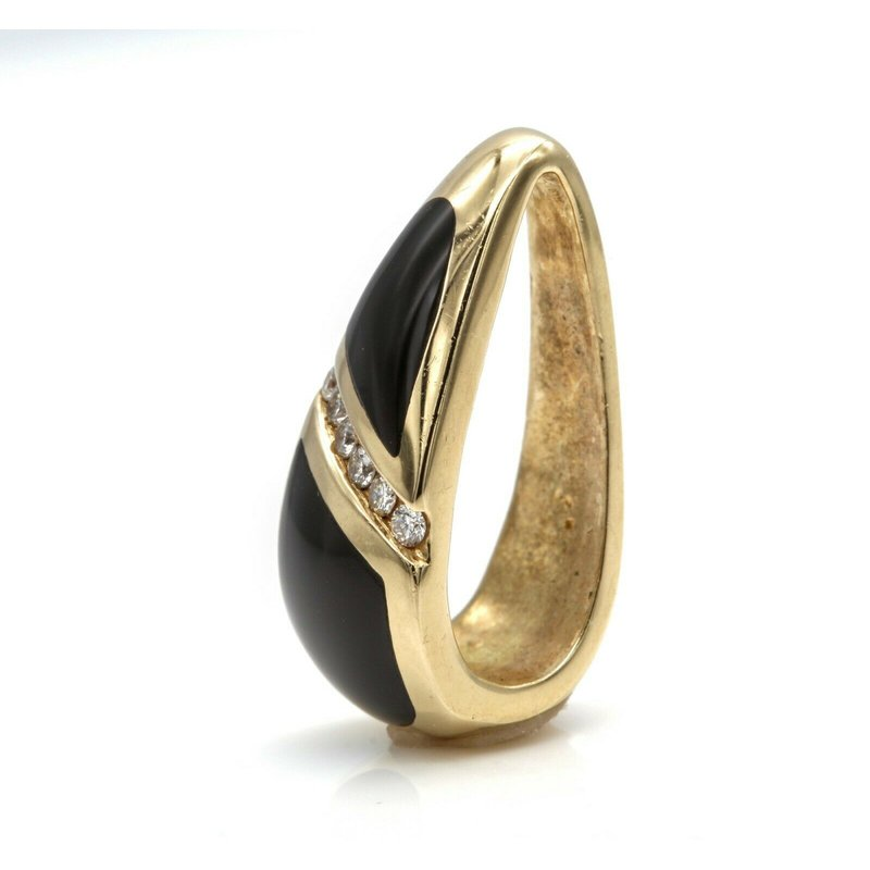 Kabana KABANA DIAMOND 14K YELLOW GOLD & BLACK ONYX PENDANT FOR NECKLACE  NR# 1018B-8