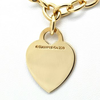 TIFFANY AND CO. 18K YELLOW GOLD HEART TAG PENDANT NECKLACE 16 INCHES #D150-1
