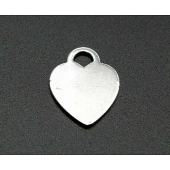 TIFFANY & CO RETURN TO TIFFANY HEART TAG CHARM STERLING SILVER CLASSIC 1052B-8