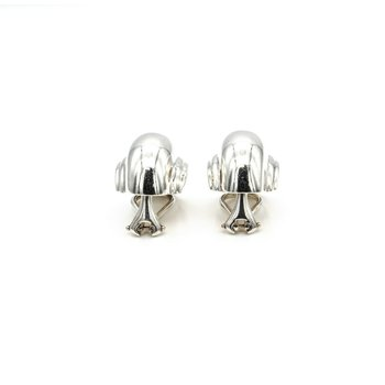 PALOMA PICASSO TIFFANY & CO  SILVER VENDOME SHELL CLIP-ON EARRINGS 1018B-6