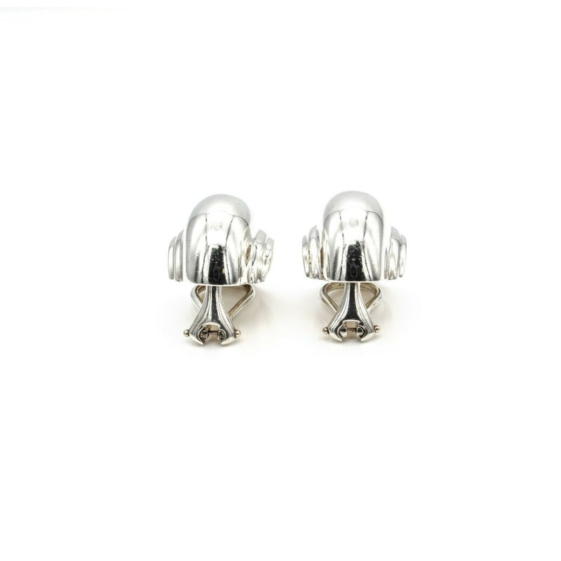 Tiffany Co PALOMA PICASSO TIFFANY & CO  SILVER VENDOME SHELL CLIP-ON EARRINGS 1018B-6