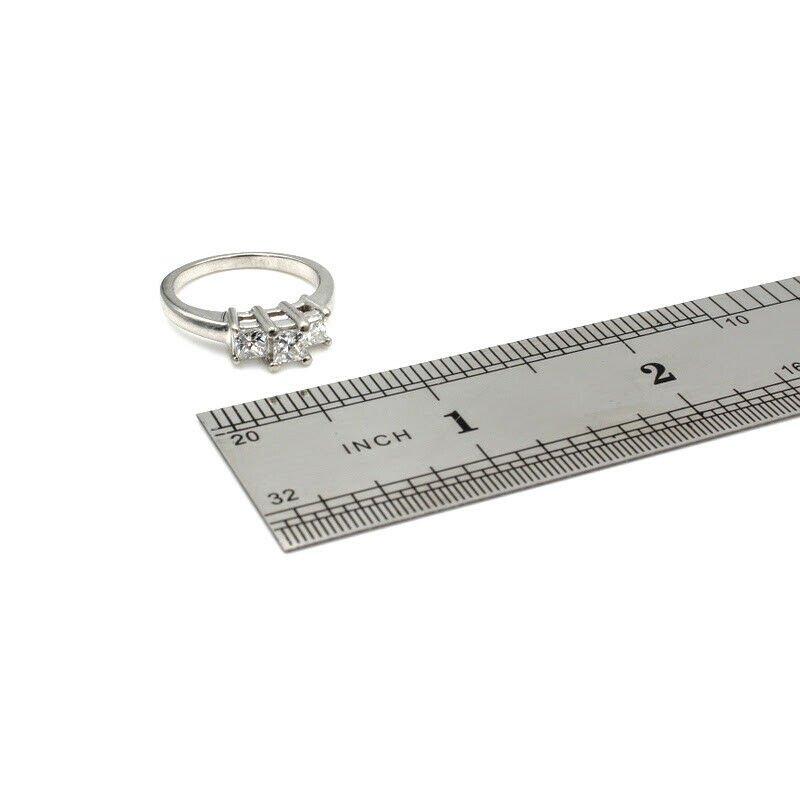 Unbranded STUNNING PLATINUM .92 CTTW PRINCESS CUT DIAMOND RING SIZE 7.25- 965B-2