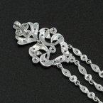 National Rarities 14K WHITE GOLD 0.42 CTW ROUND DIAMOND VINTAGE STYLE CHANDELIER PENDANT #1085B-6