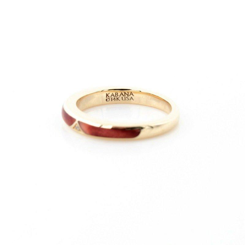 Kabana KABANA GORGEOUS 14K GOLD SPINY OYSTER CALIBRE CUT DIAMOND ACCENT RING SZ 5D23-4