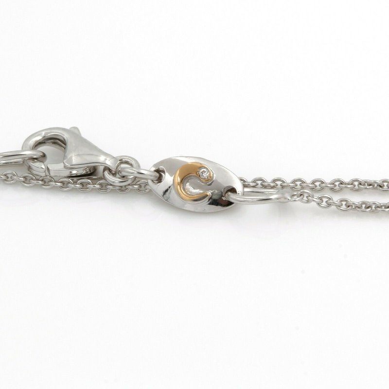 Unbranded 18K WHITE GOLD ROUND BRILLIANT DIAMOND PAVE SET PENDANT 17 INCH NECKLACE #JB74-6