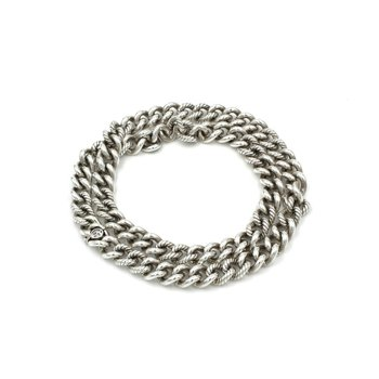 "DAVID YURMAN STERLING SILVER CLASSIC HEAVY 10.5MM CABLE CURB CHAIN 22"" #1009B-10"