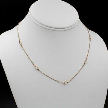 DIAMONDS BY THE YARD CHOKER STYLE 17 INCH NECKLACE 14K YG 1CTW RBC #1015B-9