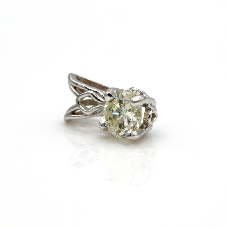 National Rarities 14K WHITE GOLD AND 0.33 CT BRILLIANT ROUND DIAMOND SOLITAIRE PENDANT #JB75-9
