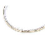 David Yurman DAVID YURMAN18K GOLD AND STERLING SILVER CLASSIC CABLE BANGLE BRACELET #D23-10