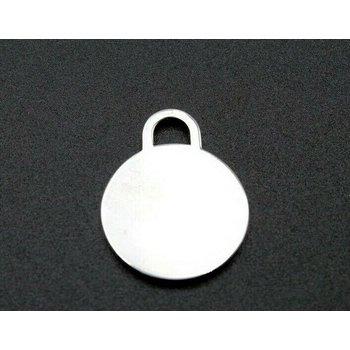 TIFFANY & CO. ROUND TAG CHARM STERLING SILVER 925 CLASSIC DESIGNER BLANK 1052B-7