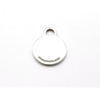 TIFFANY & CO. ROUND TAG CHARM STERLING SILVER 925 CLASSIC DESIGNER BLANK 1052B-7