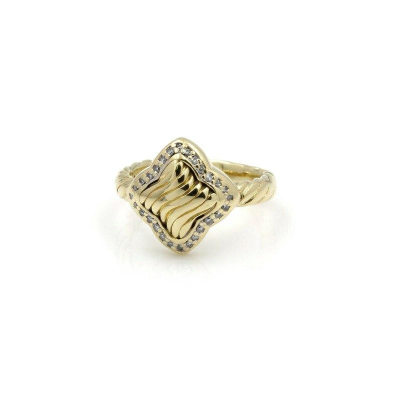 David Yurman DAVID YURMAN 18K YELLOW GOLD .35 CTW DIAMOND QUATREFOIL RING #D11-2